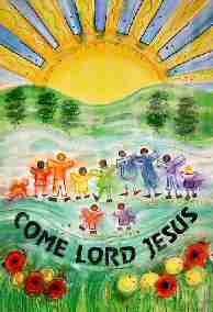 Come Lord Jesus, the title on one of the worship area banners