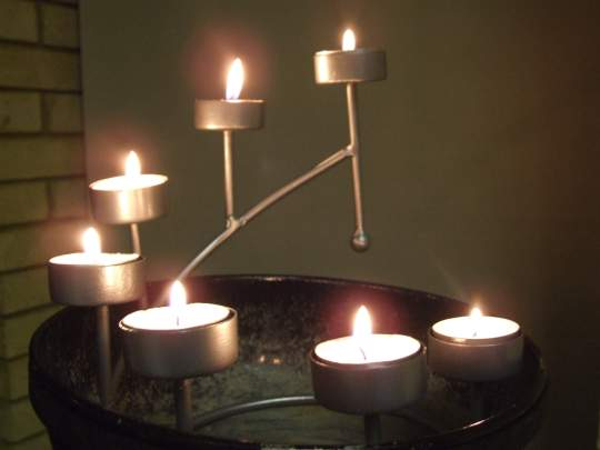A candle-stand the service